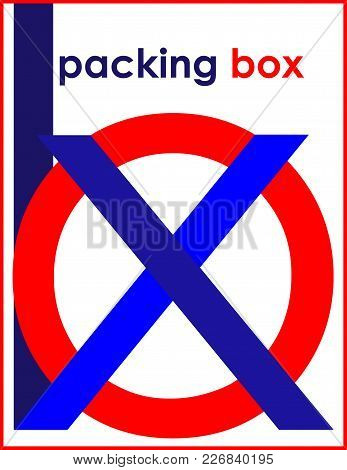 Minimalist Inscription Box Package Color Art Logo