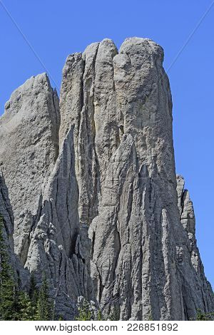Spectacular Monolith In The Needles Of The Black Hills In Custer State Park In South Dakota