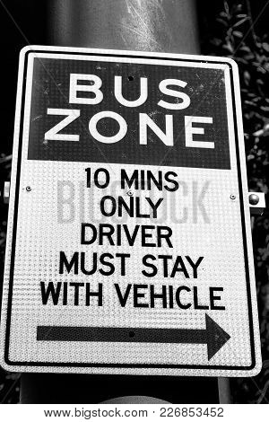 Concept Of Safety  An Old Sygnal Of Bus Zone