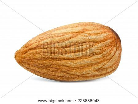 An Almond Macro Isolated On White Background