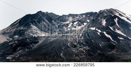 Mount St. Helens Burnt Blasted Front With Expanding Lava Dome