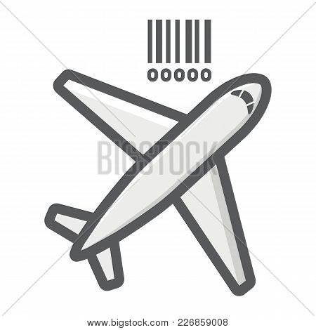 Air Freight Filled Outline Icon, Logistic And Delivery, Air Cargo Sign Vector Graphics, A Colorful L