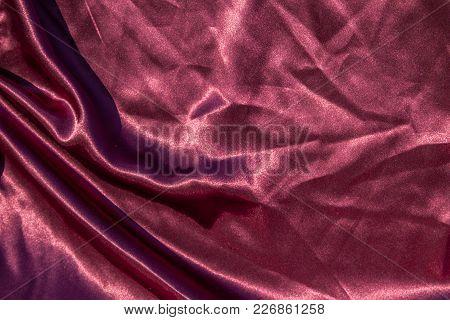 Purple Satin Background. Silk Texture. Fabric Pattern