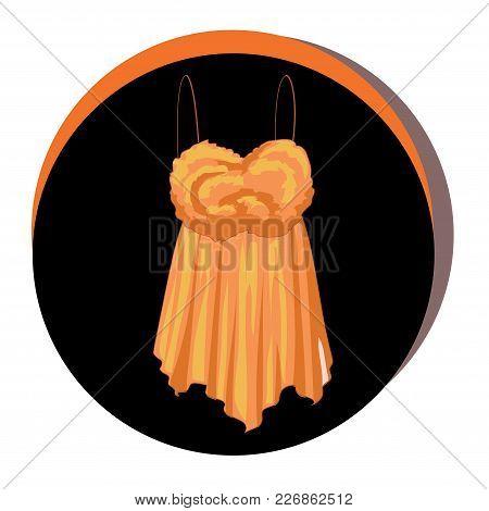 Fashion Vector Illustration. Stylish Top Icon. Elegant Outfit