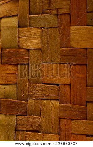 Photo Of Brown Textured Braided Vimini Wood Background
