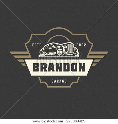 Classic Car Logo Vector Photo Free Trial Bigstock