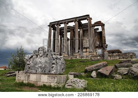 Aizanoi Ancient City In Cavdarhisar Kutahya, Turkey