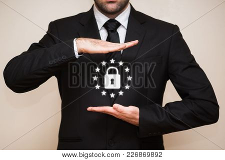 General Data Protection Regulation (gdpr) With Businessman