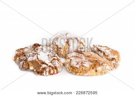 Traditional Sicilian Almond Pastries Isolated On White Background