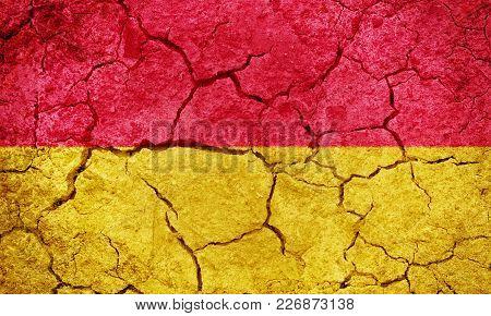 Burgenland, Austria Flag