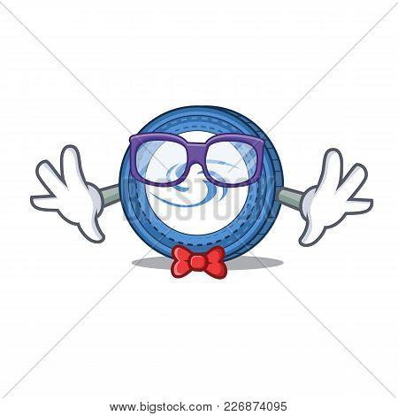 Geek Syscoin Character Cartoon Style Vector Illustration