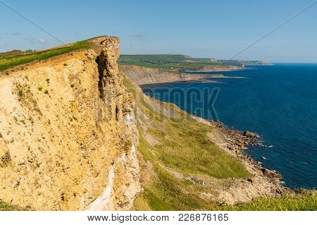 Cliffs At The Jurassic Coast, Seen On South West Coast Path Between Worbarrow Bay And Brandy Bay, Do