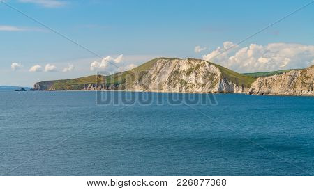 Standing On Worbarrow Bay, Near Tyneham, Jurassic Coast, Dorset, Uk - Looking West