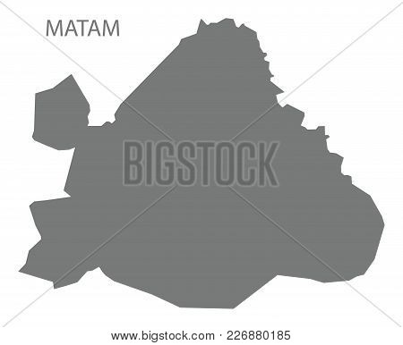 Matam Map Of Senegal Grey Illustration Silhouette Shape