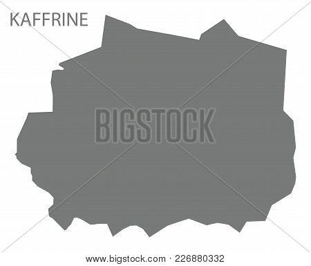 Kaffrine Map Of Senegal Grey Illustration Silhouette Shape