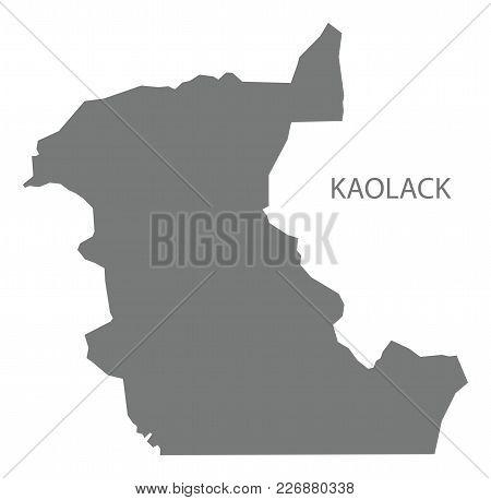 Kaolack Map Of Senegal Grey Illustration Silhouette Shape