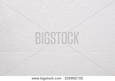 Styrofoam White Texture Closeup