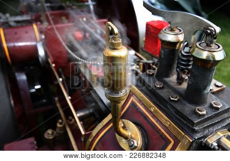 Steam Control Equipment On Scale Model Traction Engine.