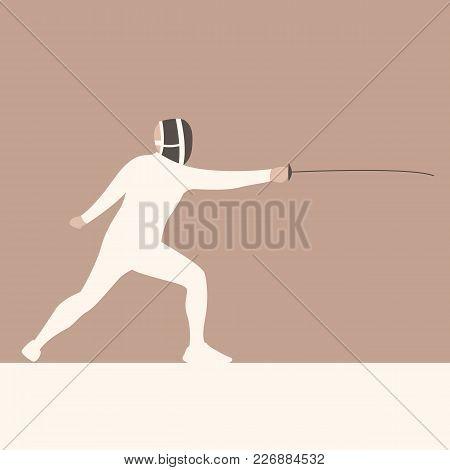 Rapier Sportsmen  Vector Illustration Flat Style  Profile Side