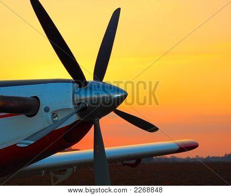 Propeller At Sunset
