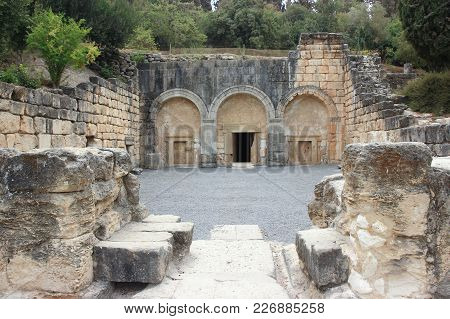 Entrance  To The Necropolis In The Beit Shearim National Park In The Kiriyat Tivon City In Israel