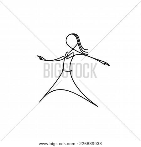 Beautiful Young Girl On White Background Vector Illustration Design.
