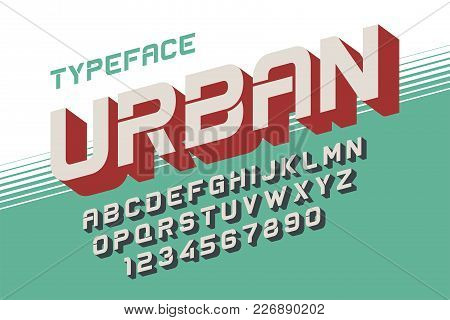 The Depth Vector Decorative Font Design, Alphabet, Typeface, Typography, Letters And Numbers. Swatch