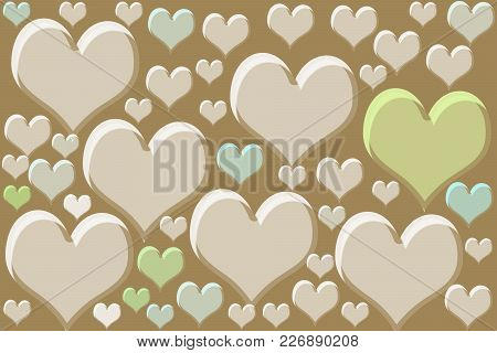 Colorful Heart Shape Drawn On A Grey/black Background.valentine's Day Concept.