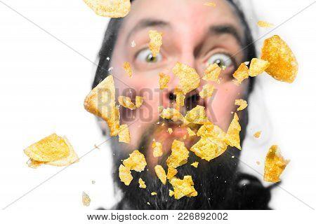 Potato Chips On A Pane