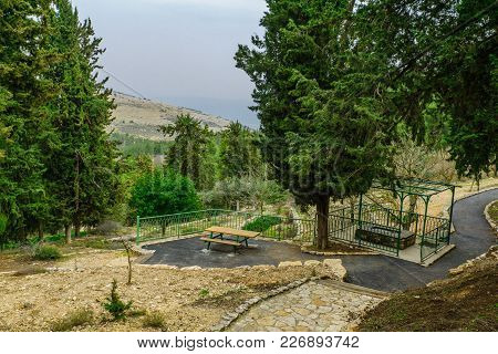 Landscape Of The Ein Gever Spring, Upper Galilee, Northern Israel