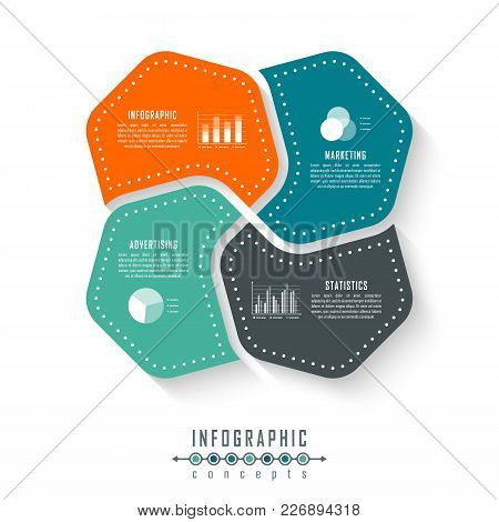 Infographic Timeline Template Can Be Used For Chart, Diagram, Web Design, Presentation, Advertising,