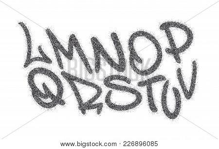 Handwritten Graffiti Font Alphabet. Artistic Hip Hop Typography Collection Part 2. Custom Vector Cal