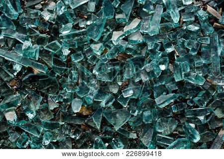 Shattered Glass With Cracks As A Background