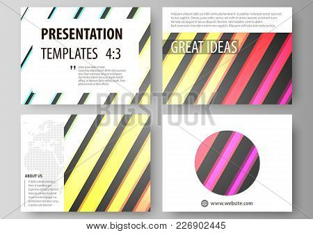 Set Of Business Templates For Presentation Slides. Easy Editable Abstract Layouts In Flat Design, Ve