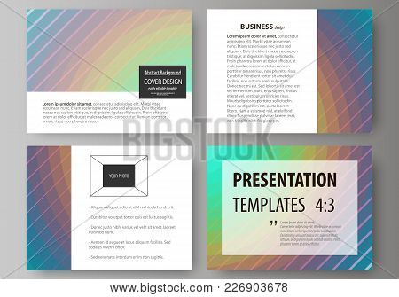 Set Of Business Templates For Presentation Slides. Easy Editable Abstract Vector Layouts In Flat Des