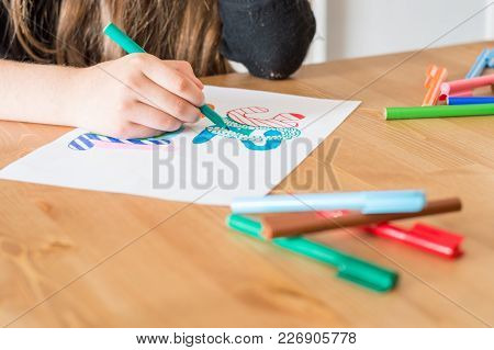 Girl Hand Writing