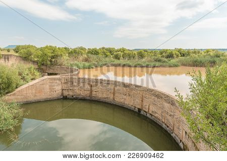 A Dam In The Klein Vet River At The Koranna Mountain Near Excelsior In The Free State Province Of So
