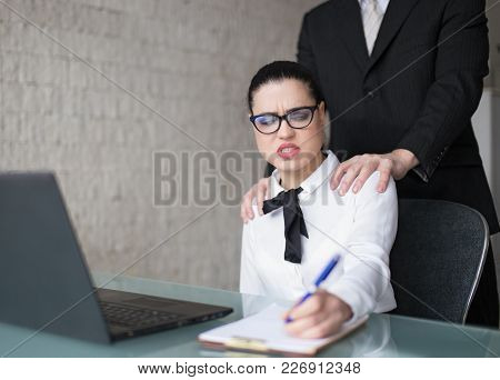 Boss Touching Employee On Shoulder, Sexual Harassment In Office