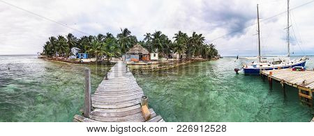 Tobacco Caye Is A Very Tiny Island In The Caribbean Sea Off The Coast Of Central Belize, Known For D