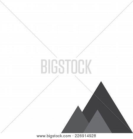 Triangular Shape Grey Desing. Blank Background. Vector Illustration.