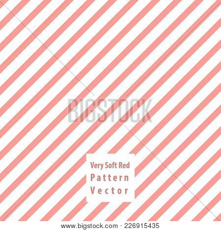 Soft Red Lines Seamless Pattern. Vector Illustration.