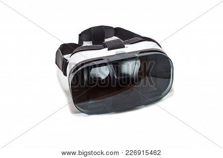Vr Ar 360 Virtual Reality Glasses Cardboard For Mobile Phone Isolated On White Background. Device Fo
