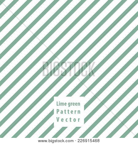 Lime Green Lines Seamless Pattern. Vector Illustration.