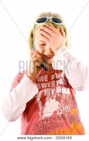 Young Girl On The Phone, Confused