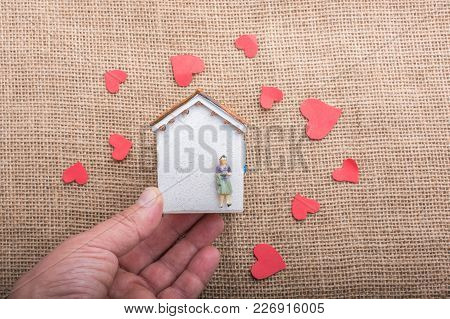 Love Concept For Valentine's Day On  House