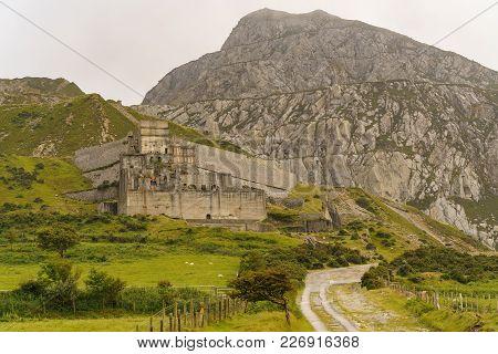 The Derelict Trefor Quarry, Gwynedd, Wales, Uk