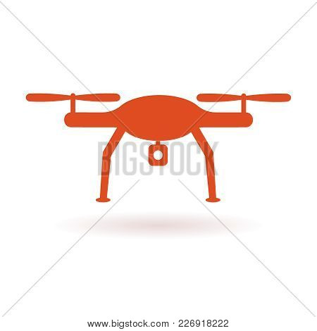 Wifi Drone Icon. Vector Flat Illustration Eps 10