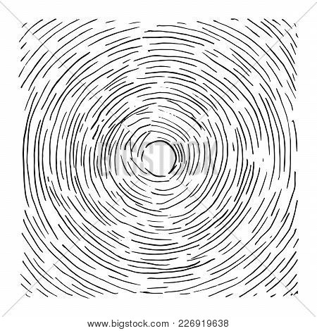 Ink Hand Drawn Circle, Grunge Texture. Vector Illustration.