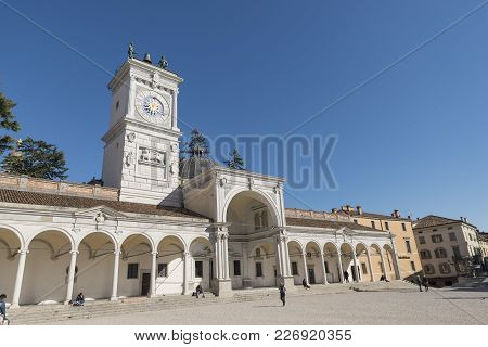 Udine, Italy /udine, 14/02/2018: Photo Of Piazza Libertà, Which Is The Oldest Square In Udine