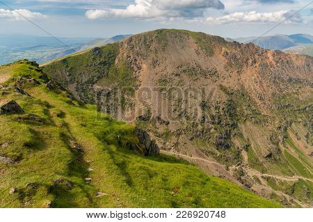 View From Mount Snowdon, Wales, Uk